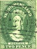 1855 Van Diemen's Land postage stamp